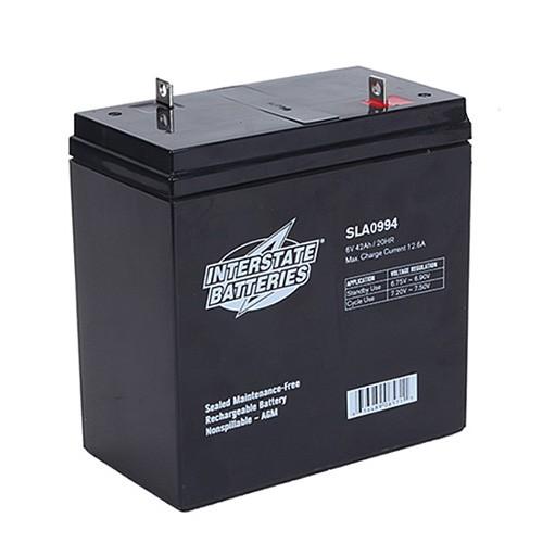 Interstate Batteries Sla0994 78 31 Sb 0994 6v 42ah Sla