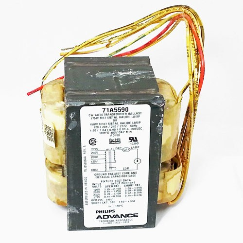 Philips Advance 71a5570 001d 47 90 09643 4 Tap 1 Lamp Hid