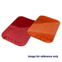 "Red 2"" X 3 .5"" Rectangular Reflector"