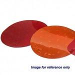 "Red 3"" Round Reflector"