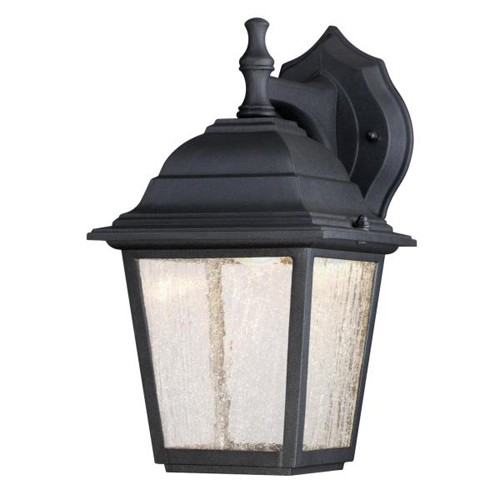 Westinghouse black seeded glass led outdoor wall light 5880 64001 textured black seeded glass led outdoor wall light aloadofball Images